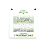 Benefits Of Cannabinoids (Free The Cure) Art Prints