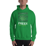 "Free The Cure ""Bars"" Pull Over Hoodie Sweatshirt"