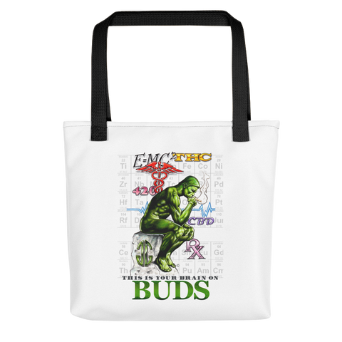 Brain on Buds Tote Bag