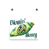 Blowin' Money Art Print