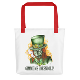 Gimme Me Green Gold Tote