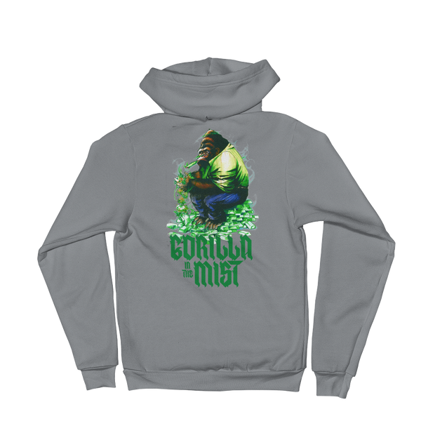 Gorilla In The Mist Zip Hoodie Sweatshirt (Unisex)