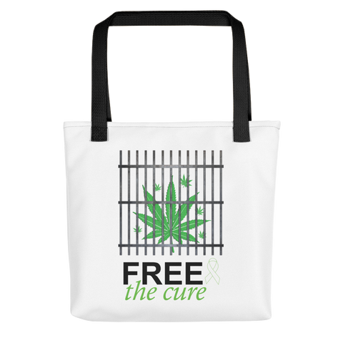 "Free The Cure ""Bars"" Tote bag"