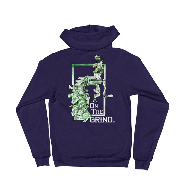 On The Grind Zip Hoodie Sweatshirt
