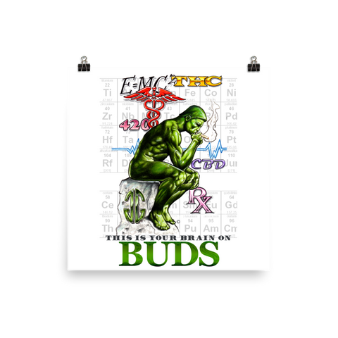 Brain On Buds Art Prints