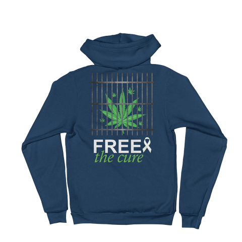 "Free The Cure ""Bars"" Zip Hoodie (Unisex)"