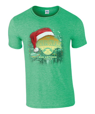 River Walk Holiday Tee- Lt Green