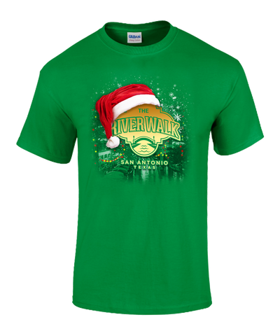River Walk Holiday Tee - Dark Green