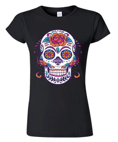 Top Seller Black Women's Sugar Skull River Walk Tee