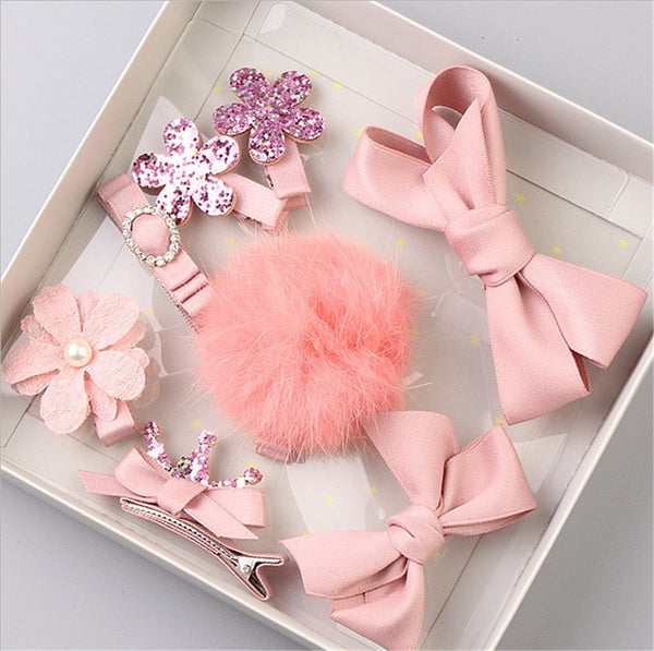 PINK Pompoms And Bows Set