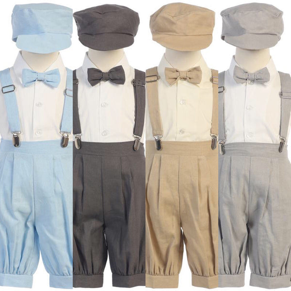 Infant Suspender Knicker Set(Rayon Linen)
