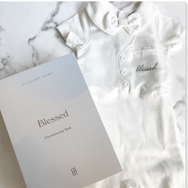 Boys Baptism Suit and Keepsake Box Set