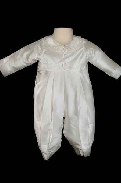 Carter Boys Silk Christening Romper