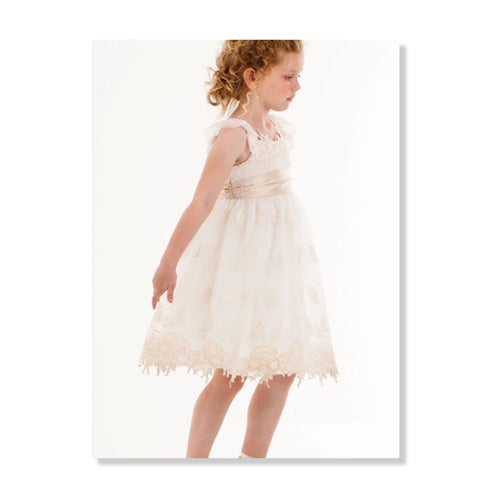 Cream/Ivory Empire Dress