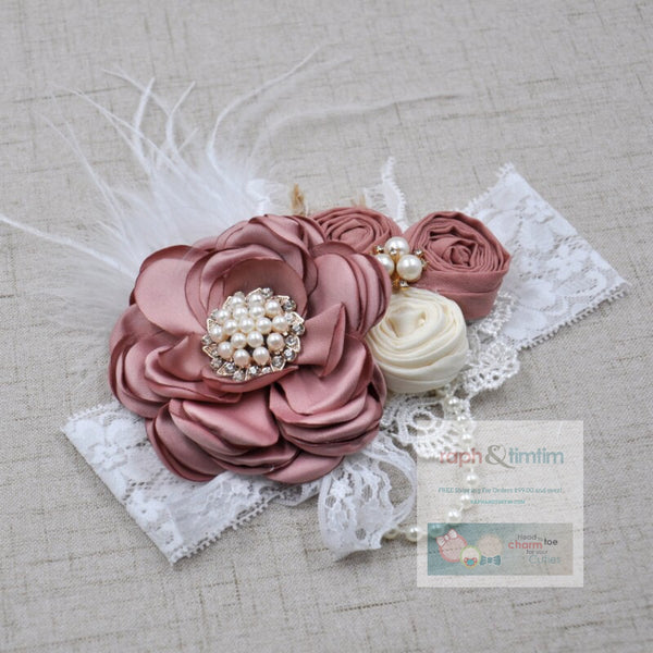 Couture Lace Headband (White Lace)