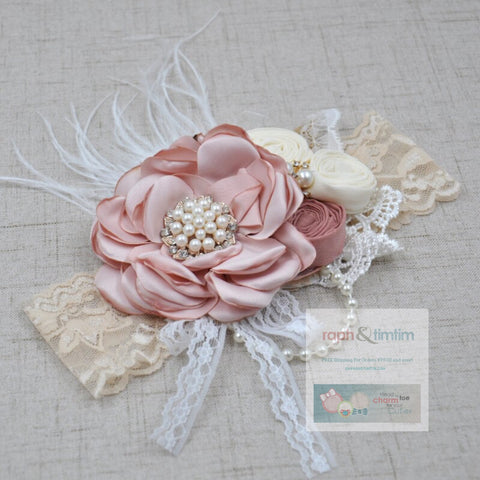 Couture Lace Headband (Ivory Lace)
