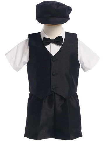 Infants Poly Silk Vest & Shorts with hat
