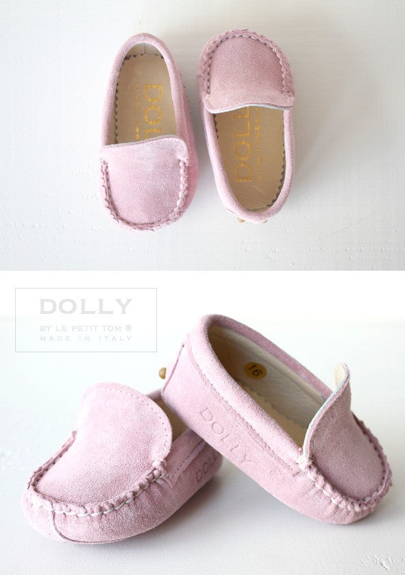 Baby Moccasin Pink Suede(FINAL SALE)