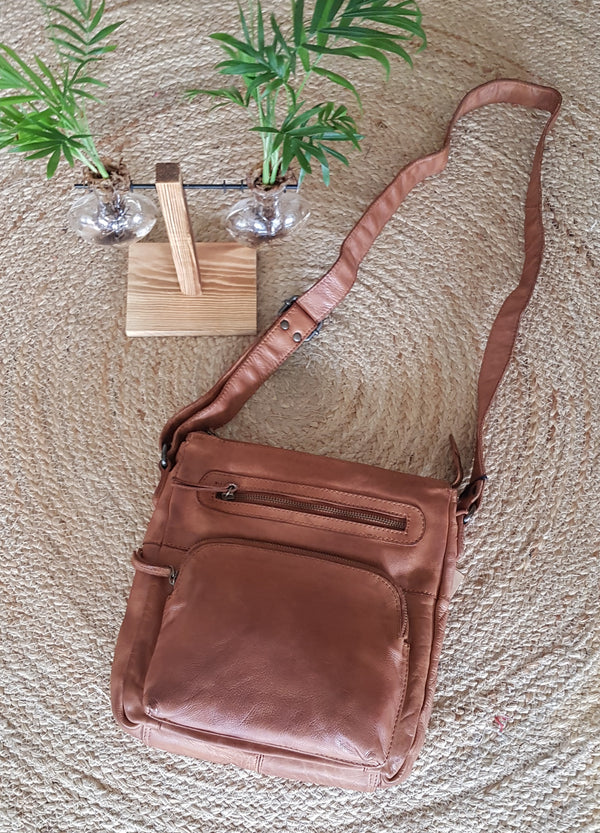 Leah Leather sling bag