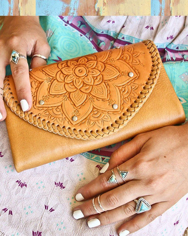 Sahara Hand Tooled Bohemian Wallet ETA Friday