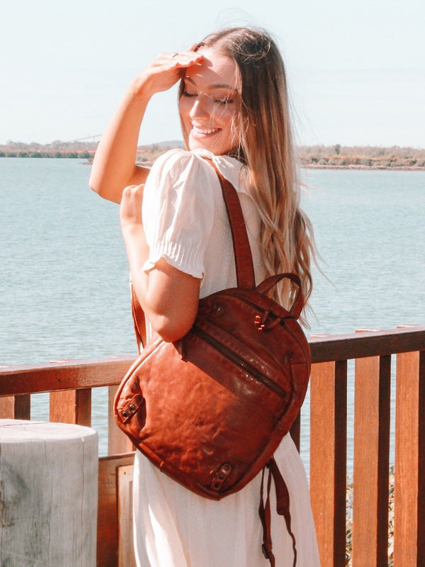 Ursula leather Backpack