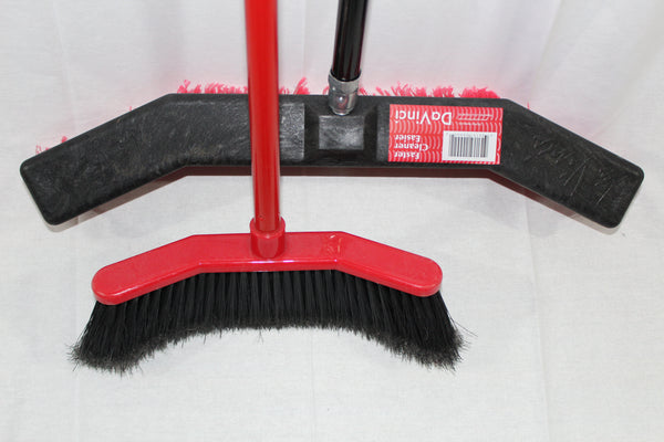 Broom Combo Pack- 1 House Broom 1 Shop Broom