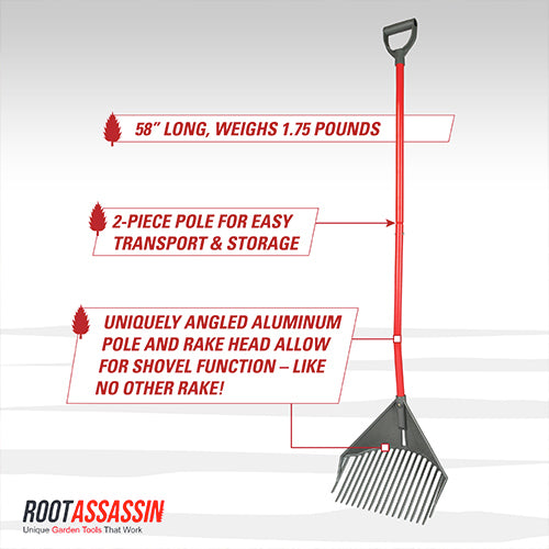 Rake Assassin - Rake, Shovel & Skim with 1 Tool