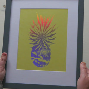 "Load and play video in Gallery viewer, Pineapple Foil Print (8"" x 10"")"