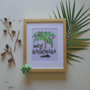 Load and play video in Gallery viewer, Mele Kalikimaka Palm Print