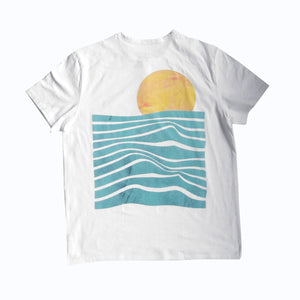 Load image into Gallery viewer, Sunset Waves - Unisex Henley Shirt