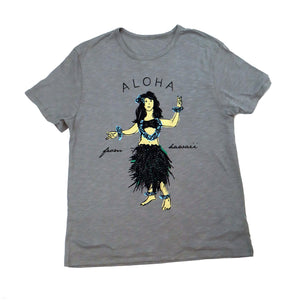 Load image into Gallery viewer, Hula Girl Tee, Grey