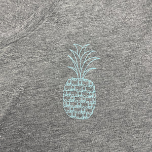 Load image into Gallery viewer, Pineapple Script - Women's V Neck Long Sleeve Tee
