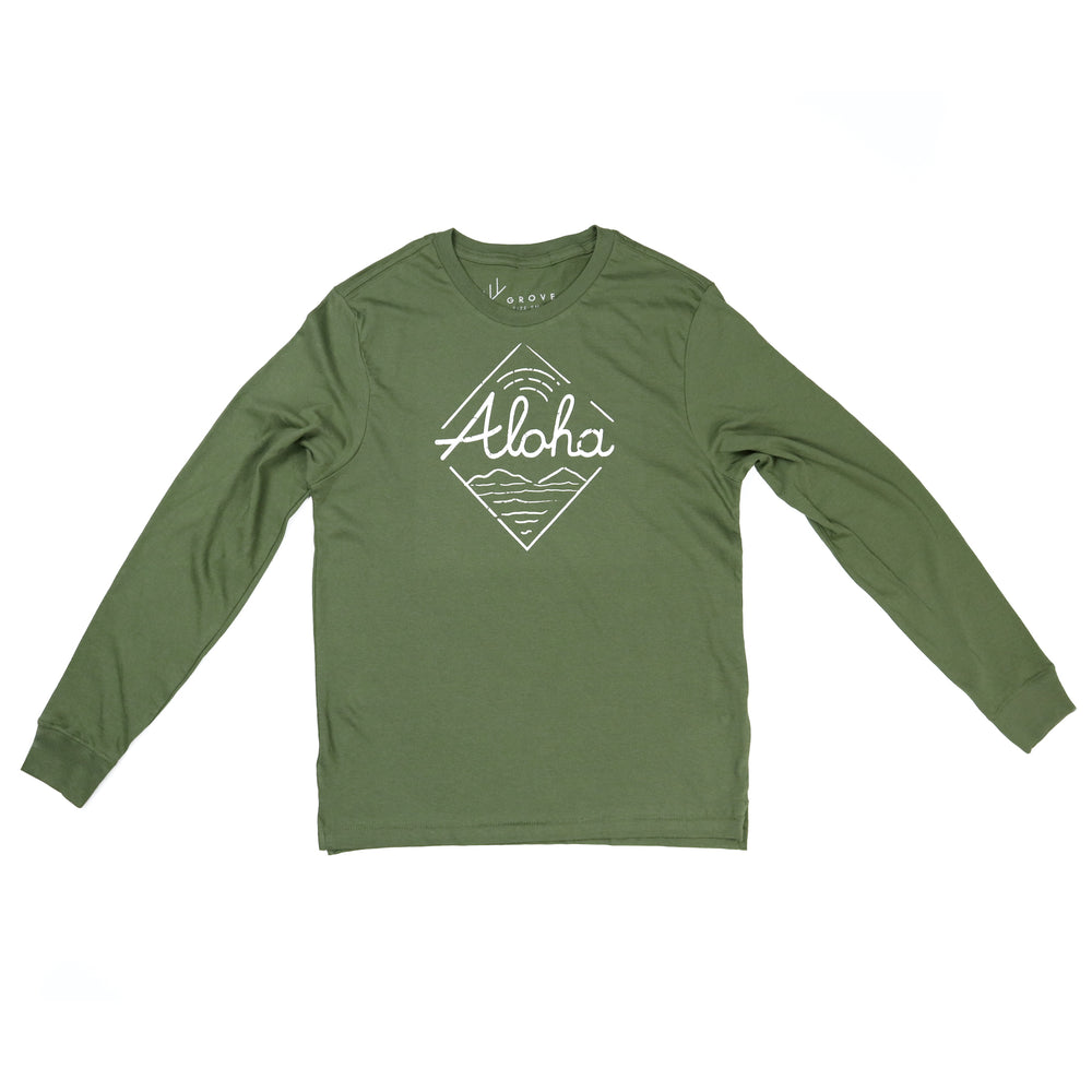 Diamond Aloha - Unisex Long Sleeve Tee