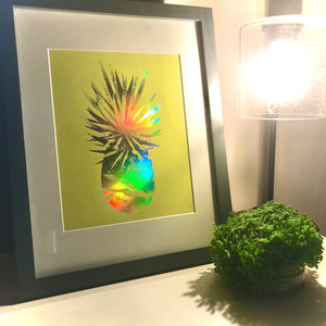 "Load image into Gallery viewer, Pineapple Foil Print (8"" x 10"")"
