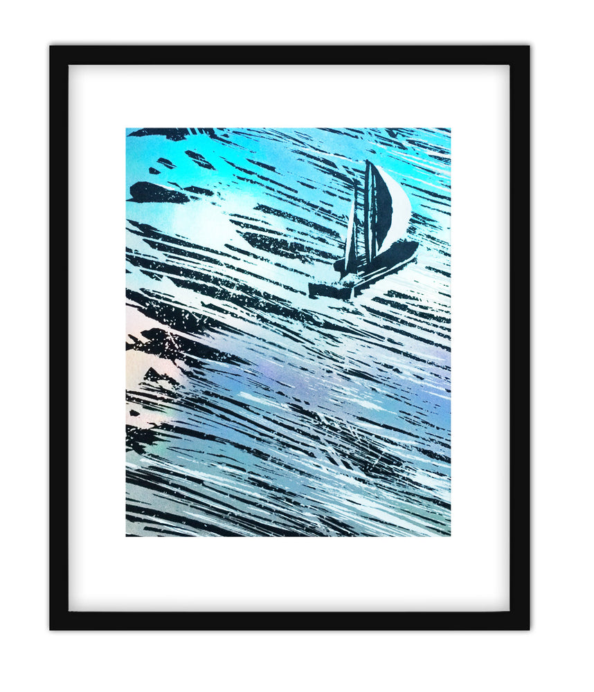"Load image into Gallery viewer, Sailboat Print (8"" x 10"")"