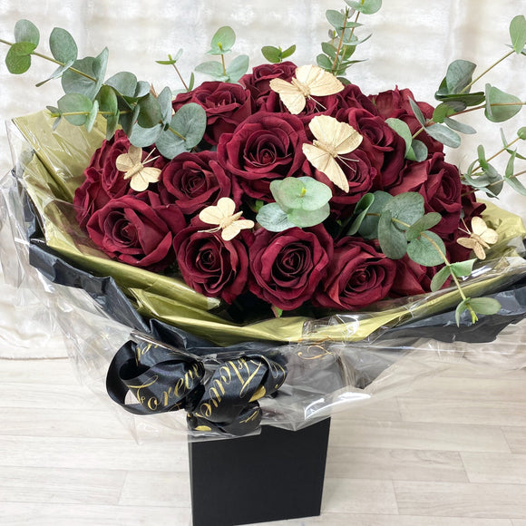 Cara Mia Velvet 36 Stem Handtie Bouquet - Artificial Silk