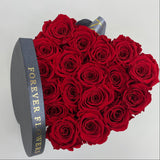 Aubrey Heart Box Preserved Roses - MEDIUM