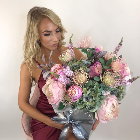 'Anastasia' - Pink & Wild Artifical Silk Bouquet