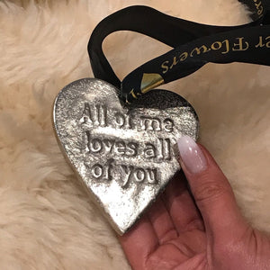 Eternity Heart Charm 'All of Me Loves All of You' - SAMPLE SALE