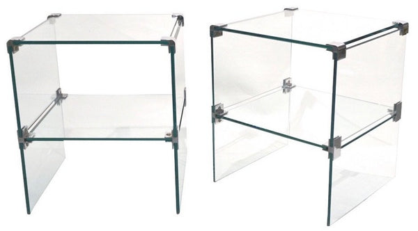 1970s-italian-vintage-pair-of-two-tier-nickel-crystal-clear-glass-side-tables