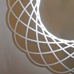 close-up-detail-organic-modern-lace-scalloped-round-mirror-light