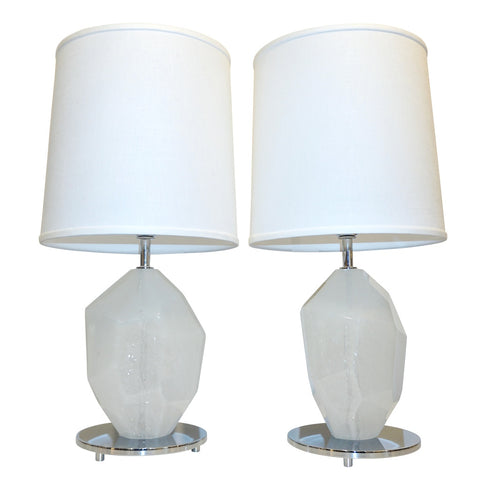 dona-contemporary-italian-pair-faceted-rock-wht-murano-lamps-901pa