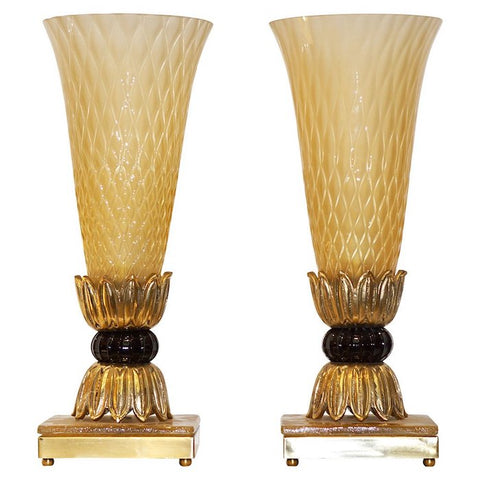 1970s-barovier-toso-italian-bronze-gold-honeycomb-murano-glass-lamps