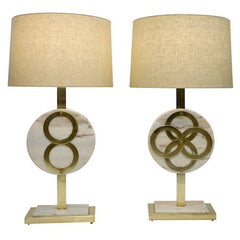 Carrara-Marble-Brass-Lamps