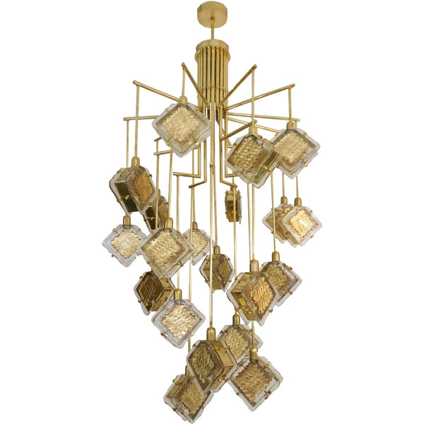 contemporary-geometric-design-gold-crystal-glass-chandelier