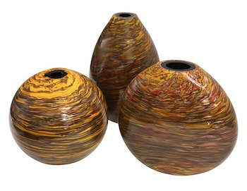formia-gold-yellow-brown-murano-glass-vases-709ph