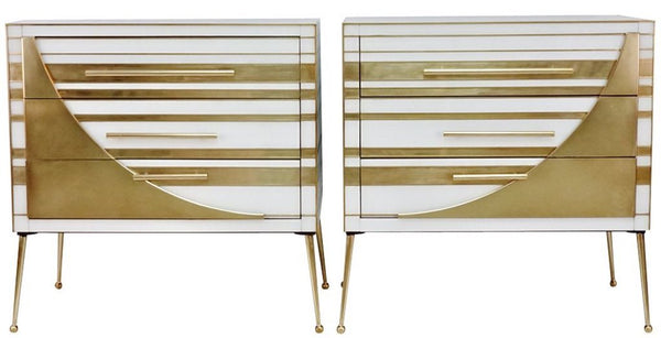 Contemporary Made in Italy White Gold Chests