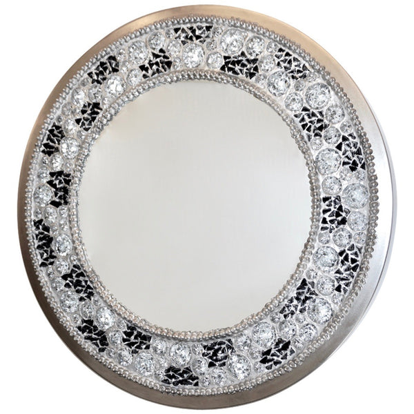 Italian Customizable Back Lit Mirror with rock crystals