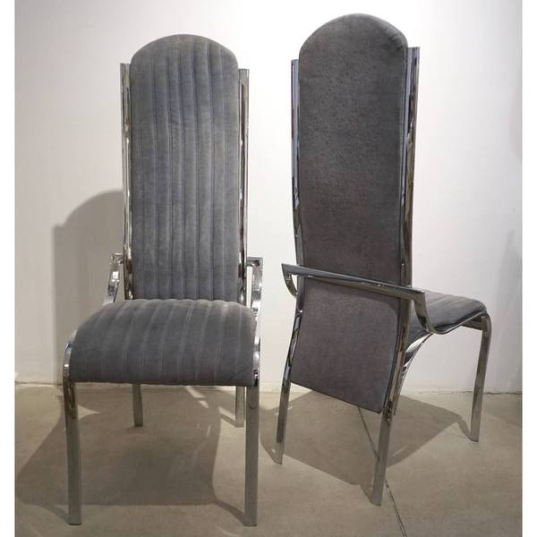 1970-italian-vintage-4-curved-high-back-chrome-chairs-in-blue-gray-stitch-fabric