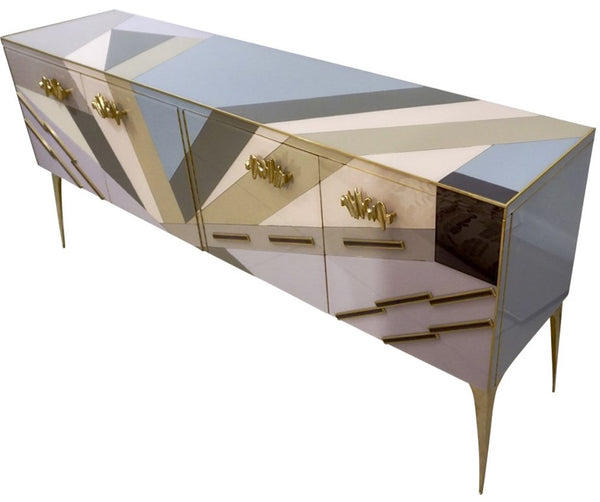 Modern Italian Pop Design Pastel Colored Sideboard